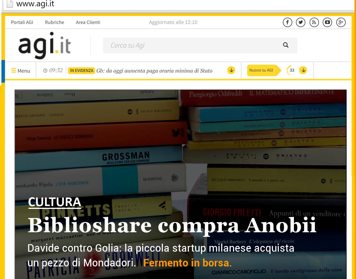 Biblioshare acquista Anobii